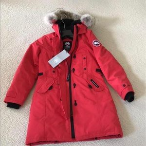 Canada goose women's parka in red brand new